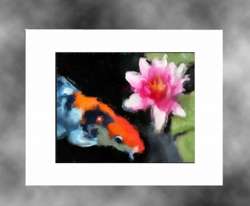 Koi-Water-Color-white-mat-