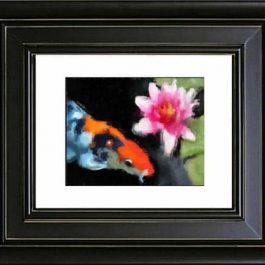 Koi-Water-Color-white-mat-in-frame-no-white-border-web