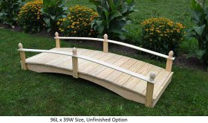 amish made koi pond bridge