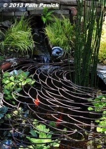 decorative metal koi pond covers