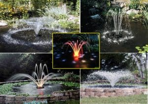 koi pond fountains